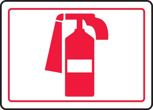 Fire Extinguisher Symbol - Adhesive Dura-Vinyl - 7'' X 10''