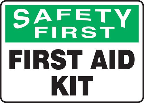 Safety First - First Aid Kit - Dura-Fiberglass - 7'' X 10''