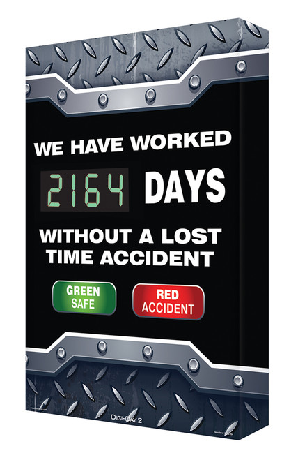 Digi Day 2 Electronic Safety Scoreboard- We Have Worked #### Days  SCG164