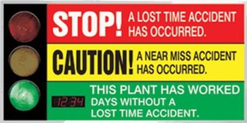 Signal Safety Scoreboard- Digi Day Plus Counter- Backlit Accuform SCT927
