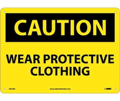 Wear Protective Clothing - .040 Aluminum - 6''