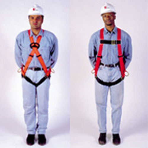FP Pro Harness by MSA Fall Protection Vest Style, Tongue Buckle Leg Straps- XL