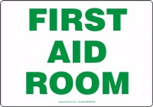 First Aid Room - Plastic - 7'' X 10''