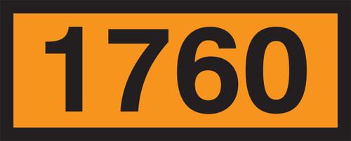 1760 (corrosive Liquid, N.O.S.) Orange 4 Digit Panels