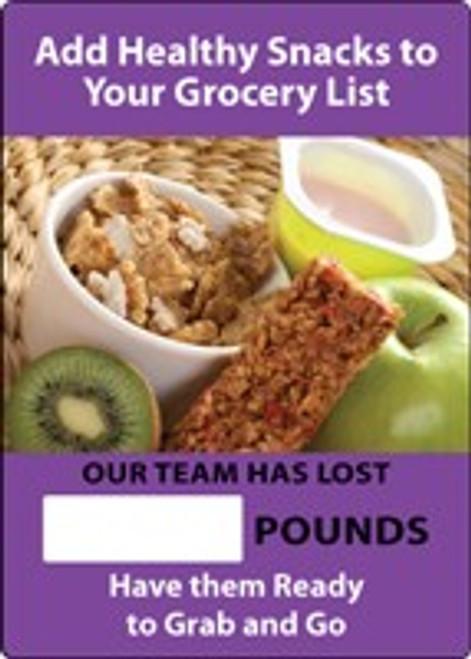 Work Healthy Write-A-Day Safety Scoreboard- Add Healthy Snacks