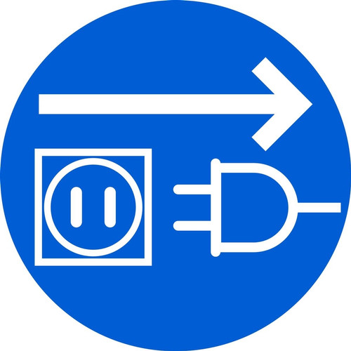 MISO126VS ISO Safety Sign- Unplug Electrical Supply Sign