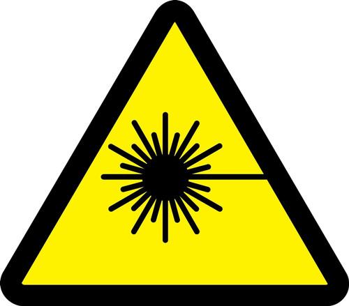 MISO364VA ISO Warning Safety Sign- Laser Beam Sign