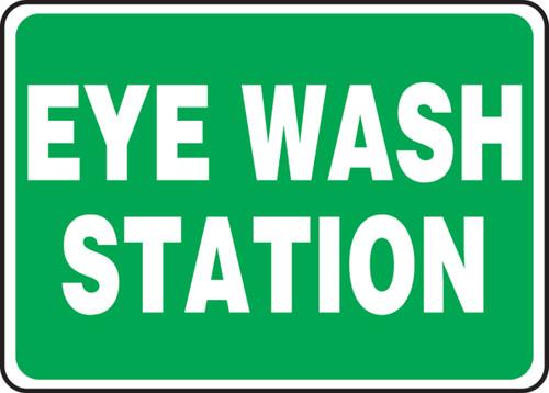 Eye Wash Station Sign- Green Background