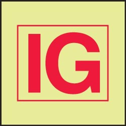 Inert Gas Installation IMO Sign