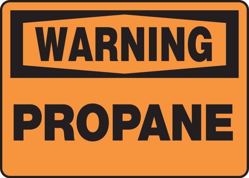 Warning - Propane - Adhesive Dura-Vinyl - 10'' X 14''