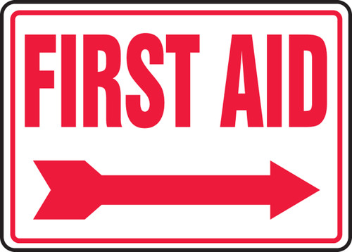 First Aid  Sign  with Arrow Right