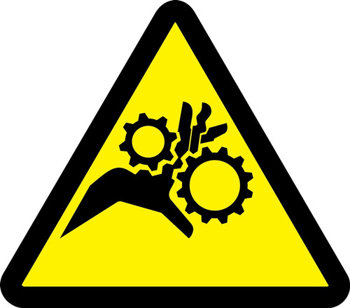 MISO324VS ISO Warning sign- Gear entanglement hazard sign