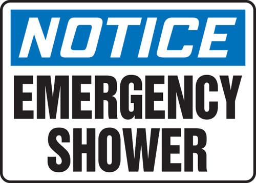 Notice - Emergency Shower
