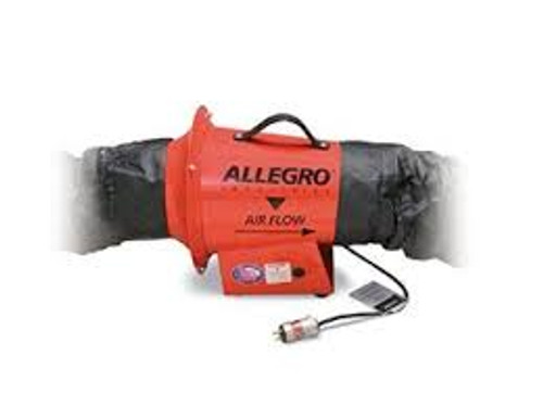 Allegro 9513-01I AC Axial explosion proof inline booster blower