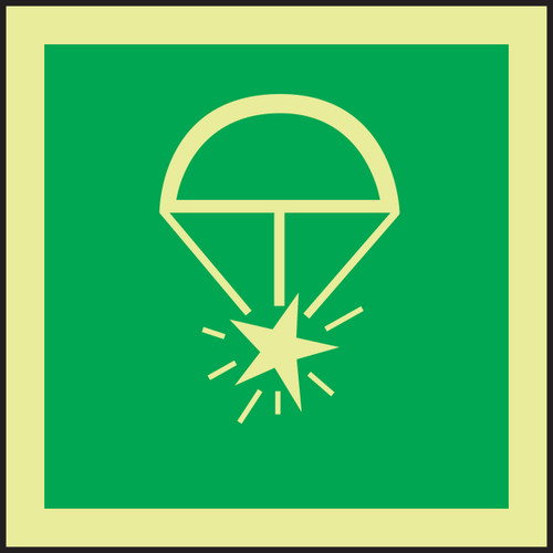 Rocket Parachute Flare IMO Sign