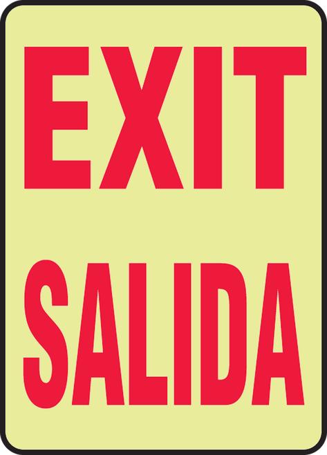 Exit Bilingual Glow Sign