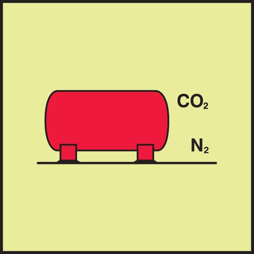 MLMR612 IMO CO2 Nitrogen Installation Sign