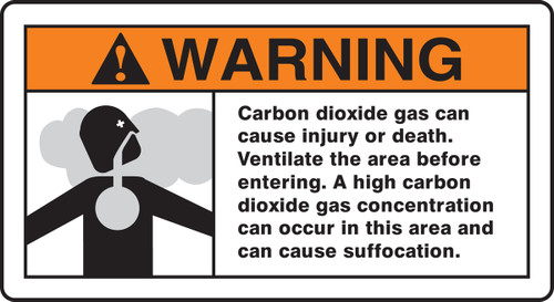 Warning Carbon Dioxide Gas Can Cause Injury Or Death Ventilate the Area...