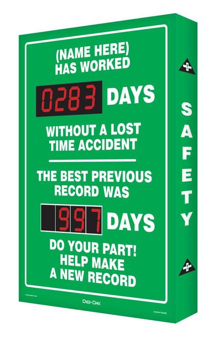 Safety Scoreboard Digi Day| SCA283 Accuform