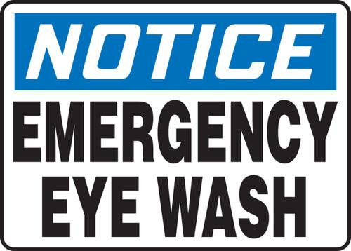 NOTICE - EMERGENCY EYE WASH sign