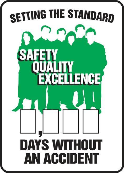 Work Healthy Write A Day Safety Scoreboard 36 x 24 Plastic