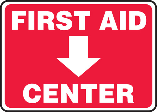First Aid Center Sign