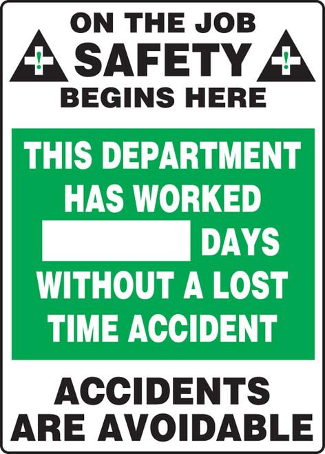 Write A Day Safety Scoreboard 28 x 20 Aluminum 2