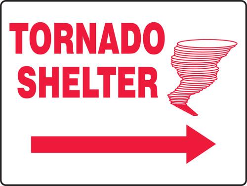 Tornado Shelter Sign MFEX518