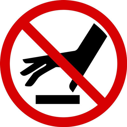 MISO580VS ISO Prohibition safety sign- do not touch surface sign