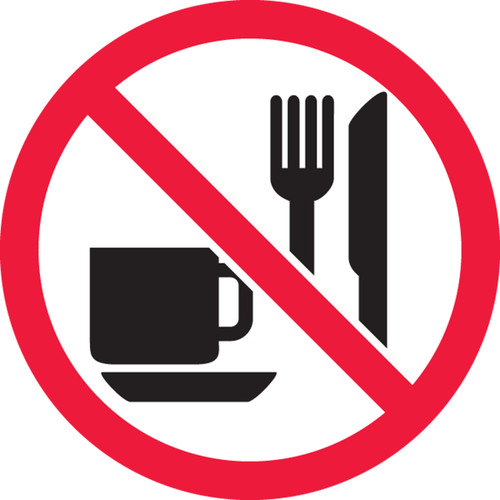 MISO528VP ISO Safety Sign- No Eating or Drinking Sign