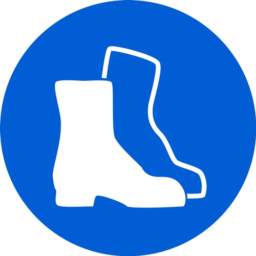MISO171VA ISO mandatory safety sign- wear safety footwear sign