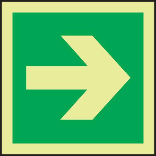 Directional Arrow - Straight IMO Sign