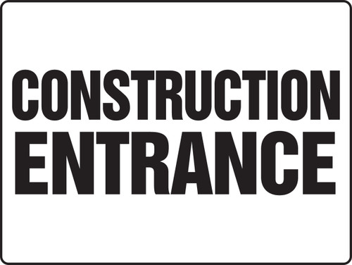 MADM500 Construction Entrance Sign