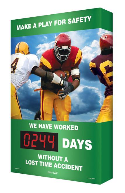 Digi Day Plus Outdoors Safety Scoreboard SCM316
