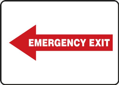 Emergency Exit Sign Left Arrow 1