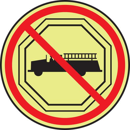 No Fire Fighting Sym Glow Sign