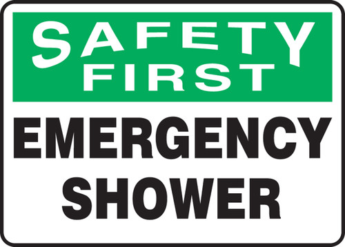 MFSD953 Safety first emergency shower sign