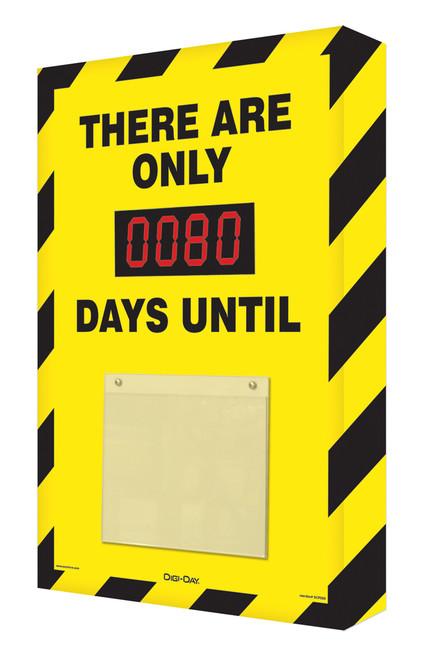 Countdown Scoreboard- Black and Yellow Safety Stripes