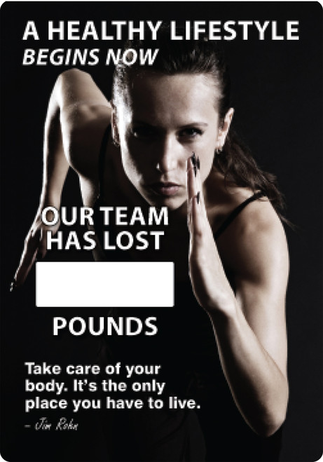 Work Healthy Write A Day Pounds Lost Scoreboard Alulminum
