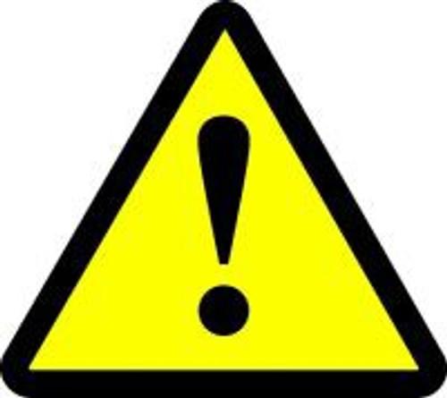General Warning Hazard ISO Sign