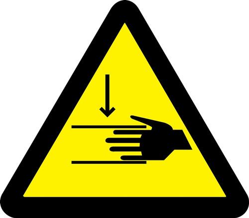 MISO314 ISO Safety Sign Crush Hazard Sign