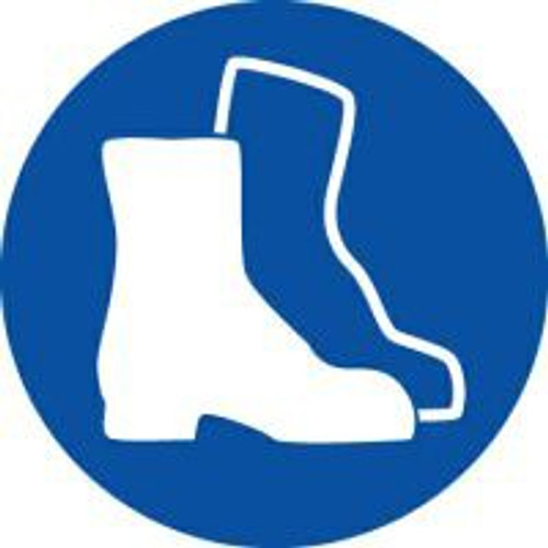 Wear Foot Protection ISO Safety Sign