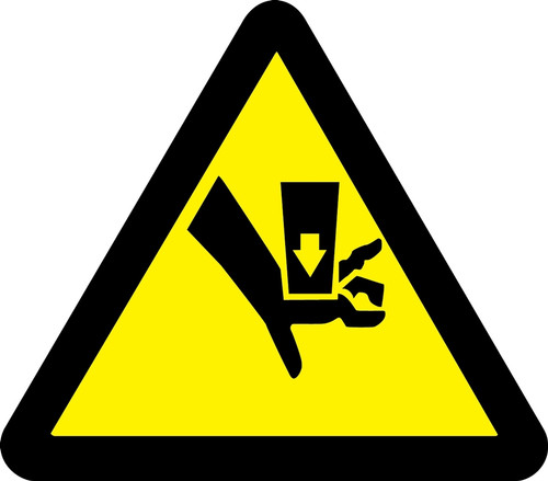 MISO316 ISO Warning Safety Sign Crush Hazard Sign