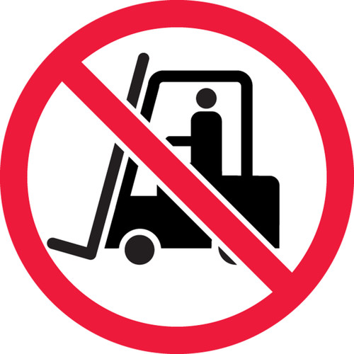 MISO550 ISO Safety Sign No Industrial Trucks Sign