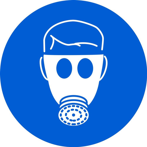 MISO172 ISO mandatory safety sign wear respiratory protection sign