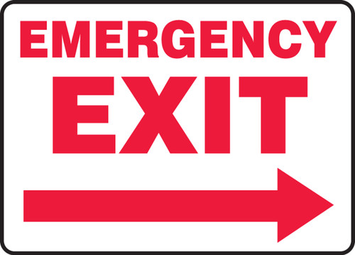 Emergency Exit Sign Arrow Right