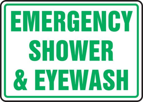 Emergency Shower & Eyewash - Adhesive Dura-Vinyl - 7'' X 10''