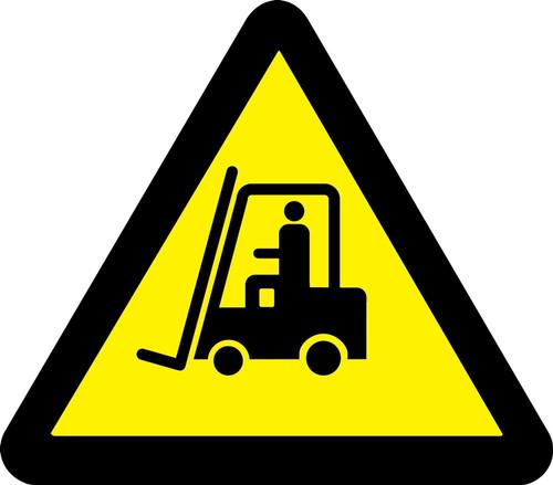 MISO312 ISO Warning Safety Sign Lift Truck Hazard Sign
