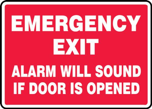 Emergency Exit Alarm Will Sound If Door Is Opened