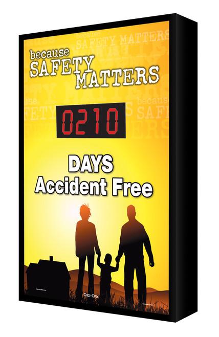 Digi Day Electronic Safety Scoreboard- Backlit LED Lite- Because Safety matters SCF210